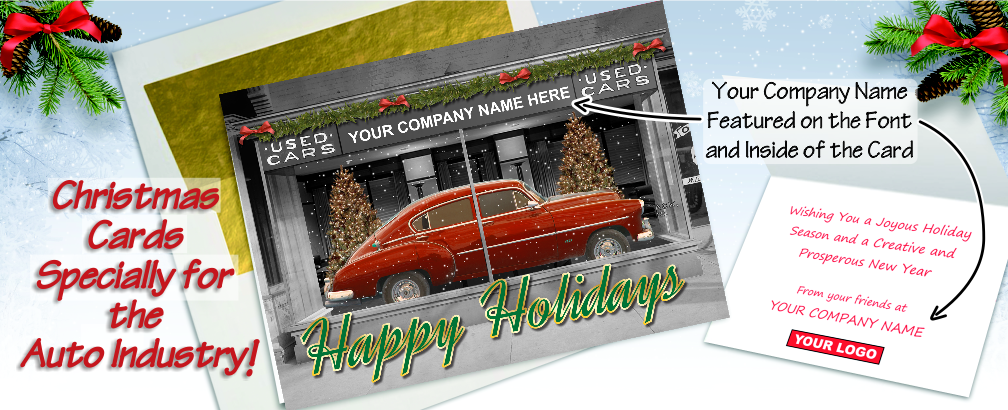 Auto Industry Christmas Cards