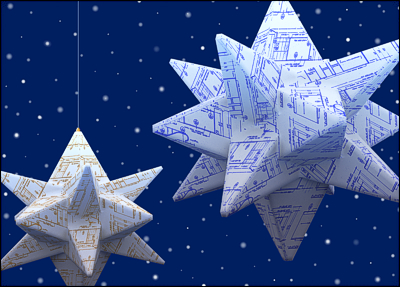 architecture card of the week origami blueprint stars