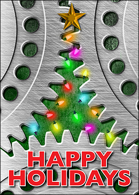 mechanical engineer holiday card l