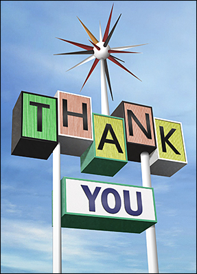roadside thank you card l