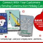 Save 15% off Construction Christmas Cards!