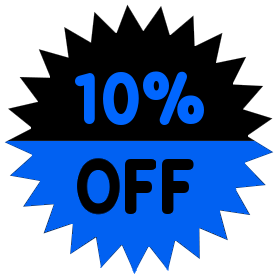 10 percent off blue