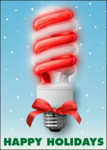 candy cane electrician card