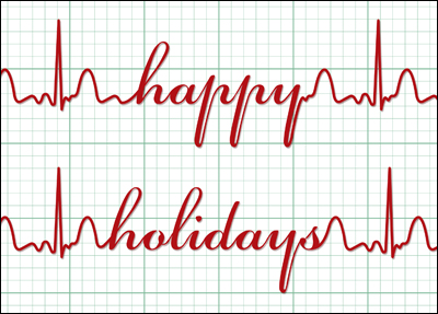 happy holidays ekg l