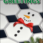 Spread Some Holiday Cheer With the Tile Snowman Christmas Card!