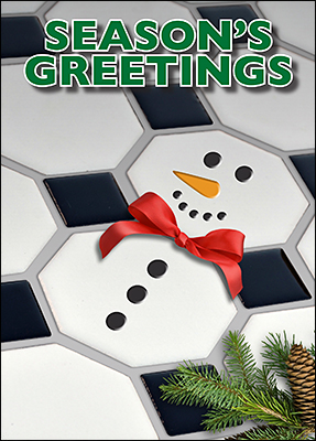 tile snowman christmas card l