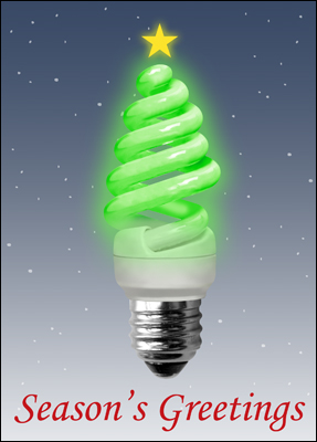 energy efficient christmas card l