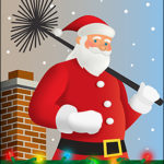 Funny Ziti Card of the Week: Santa Chimney Christmas Card