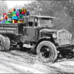 Construction Card of the Week: Truck Hauling Gifts