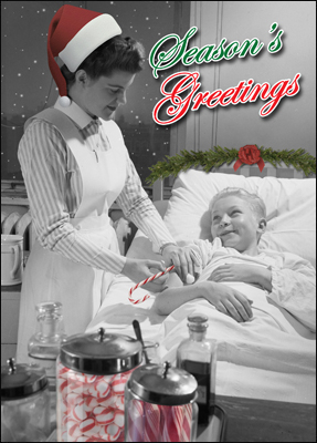 nurse holiday card l