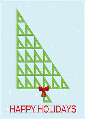 architects triangle holiday card l
