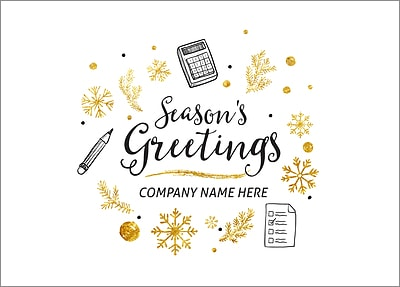 Personalized Business Christmas Cards.Accounting Icons Christmas Cards Personalized For Your Business