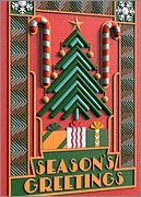 Art Deco Holiday Card