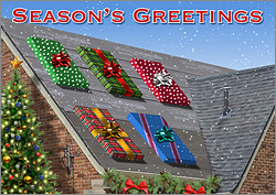 Asphalt Roofing Greeting Card
