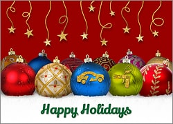 Auto Body Ornament Card