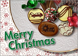 Automotive Christmas Candy Card