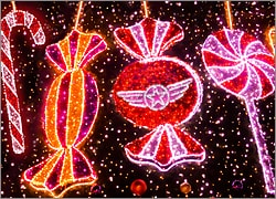 Aviation Christmas Lights Card