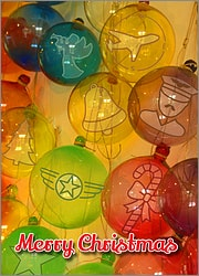 Aviation Glass Ornaments