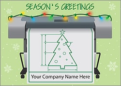 Blueprint Holiday Card