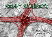 Bow Intersection Christmas Card
