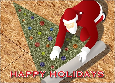 Carpet Installer Christmas Card (Glossy White)