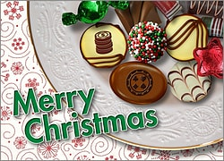 Casino Christmas Candy Card