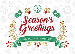 Casino Snowflake Christmas Card