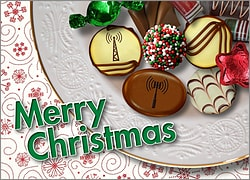 Cell Tower Christmas Candy Card