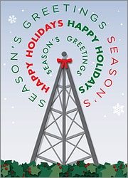 Cell Tower Greeting Card