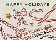 Cell Tower Logo Candy Canes