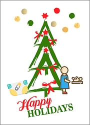 Childcare Tree Holiday Card