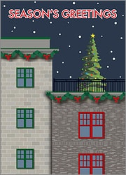 City Building Christmas Card