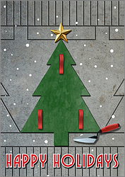 Concrete Stamp Christmas Tree Card