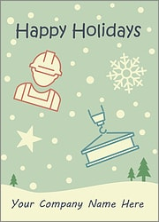 Construction Snowfall Card