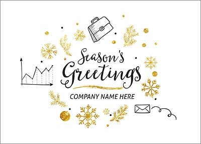 Company Christmas Cards.Corporate Icons Christmas Cards Personalized For Your Business