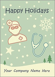 Doctor Snowfall Card