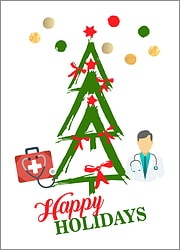 Doctors Tree Holiday Card
