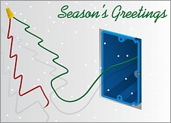 Electrical Christmas Card