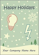 Electrical Snowfall Card