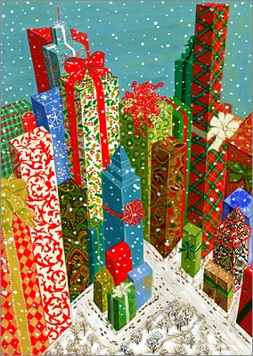 Gift Wrapped City (Glossy White)