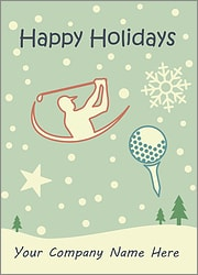 Golf Snowfall Card
