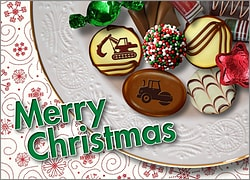 Heavy Equipment Christmas Candy Card