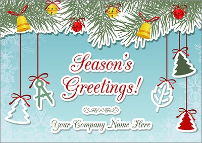 Landscape Ornaments Christmas Card (Glossy White)