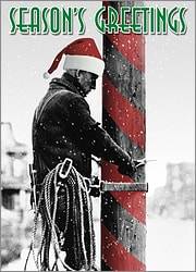 Lineman Candy Cane Pole