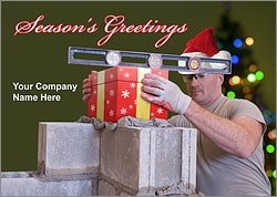 Mortar Gift Christmas Card