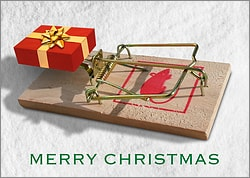 Mouse Trap Christmas Card