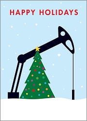 Petroleum Engineer Christmas Card