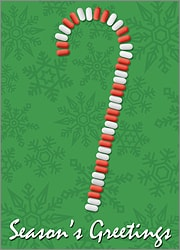 Pill Candy Cane