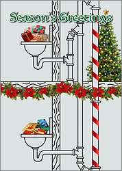 Plumbing Diagram Christmas Card