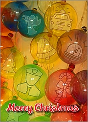 Police Glass Ornaments